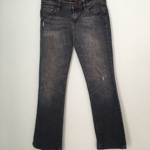 NewYork & Company Lightly Distressed Bootcut Jeans